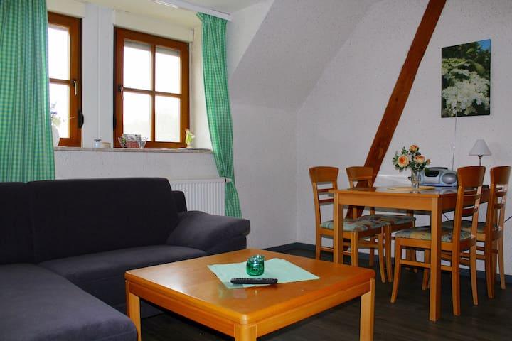 Elgersheimer Hof (Volkach), Ferienwohnung Hollerbusch mit Freisitz