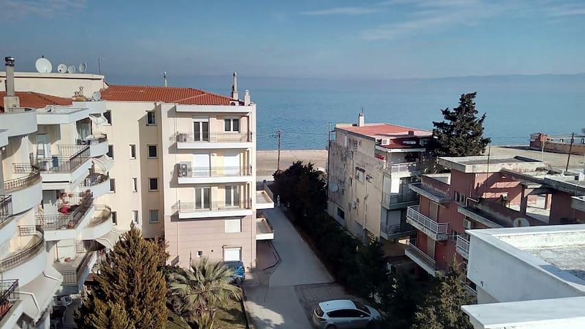 Seaside apt - splendid view, wi- fi, air condition - Saloniki