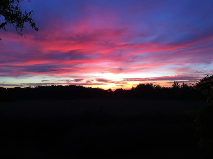 Hus på 100 kvm. på første parket til solnedgangen.