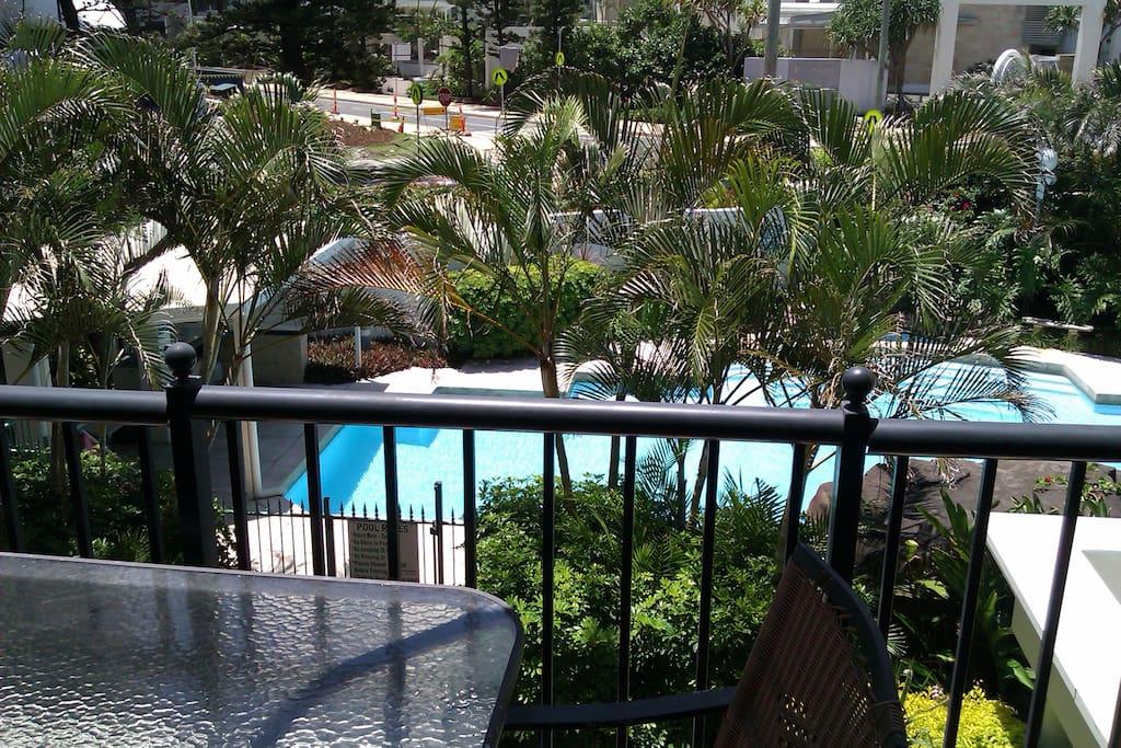 Overlook the popular pool