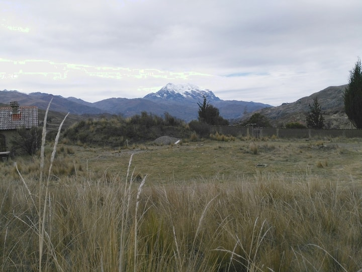 Camping with a view.  Valle de las Animas, Bolivia