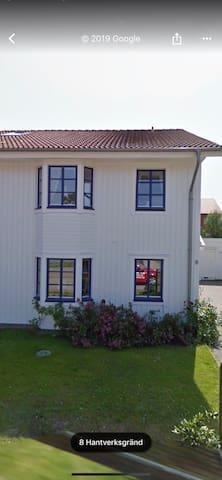 Trevligt parhus i centrala Varberg