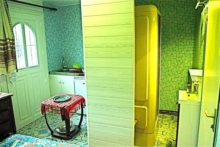 APARTMENT KITCHEN BATHROOM NEXT FOREST 25min PARIS