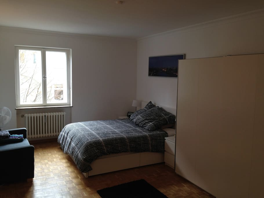 Main room - Double bed and sofa bed