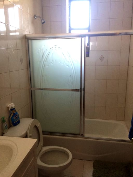 Excellent shower - steady hot water that doesn't run out.