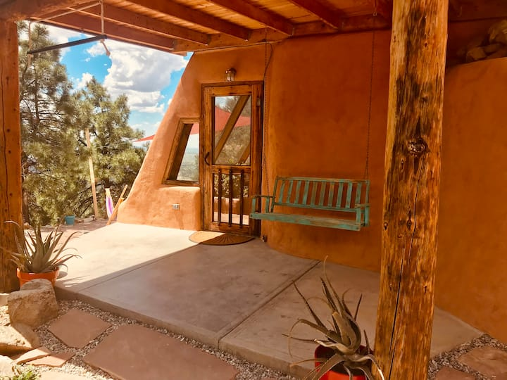 Cliff House Earthship, come stay above the clouds!