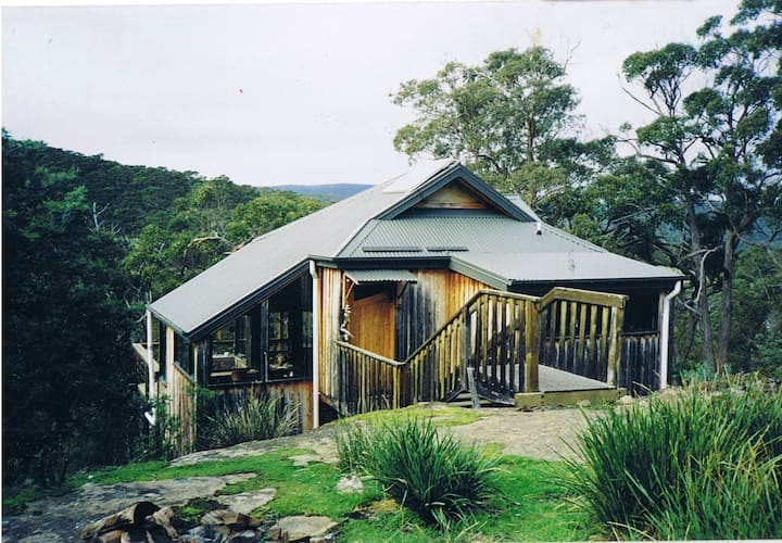 Alpine styled cabin near the surf.