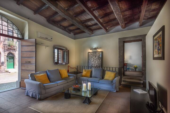 Medieval Village in Rome, Unique Quiet Apartment