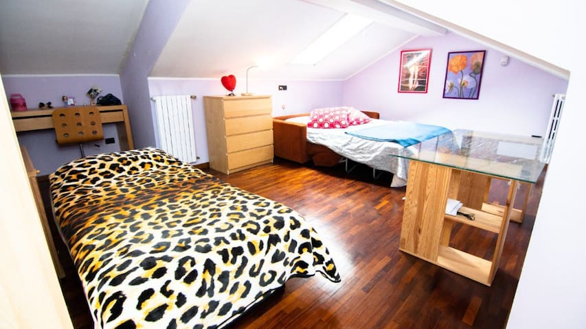 Spacious attic bedroom with ensuite