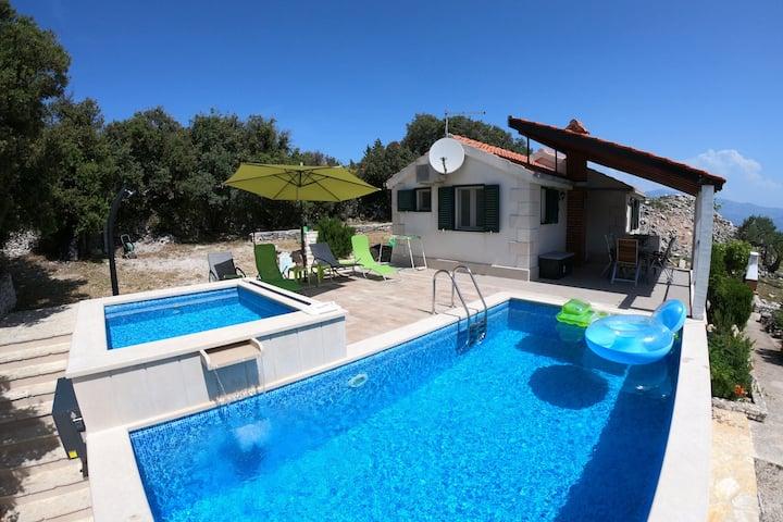 Modern Villa in Škrip with Swimming Pool