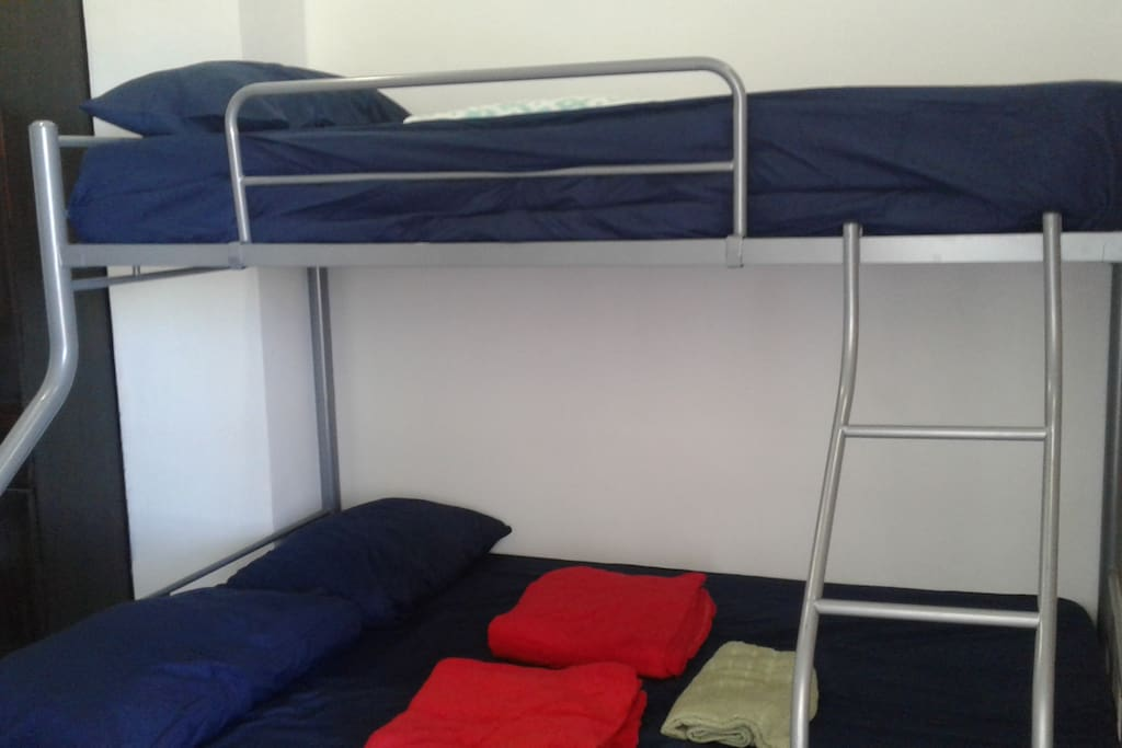 Double deck queen size bed and single bed