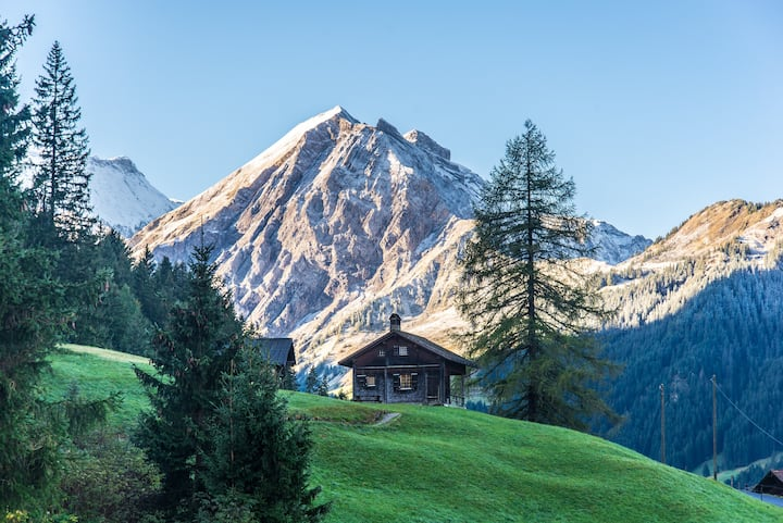 Traditional chalet in the mountains w amazing view