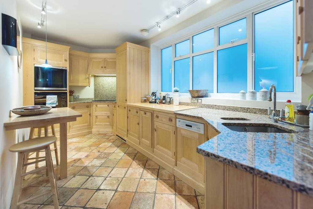 The kitchen will have everything you need in it