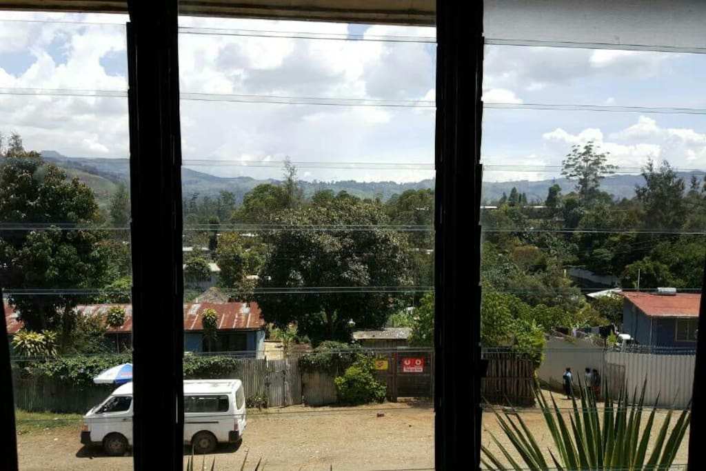 View into the mountains