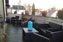 Super loft avec terrasse et jacuzzi