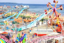 Palace Playland beach-side amusement park is 35 minutes away