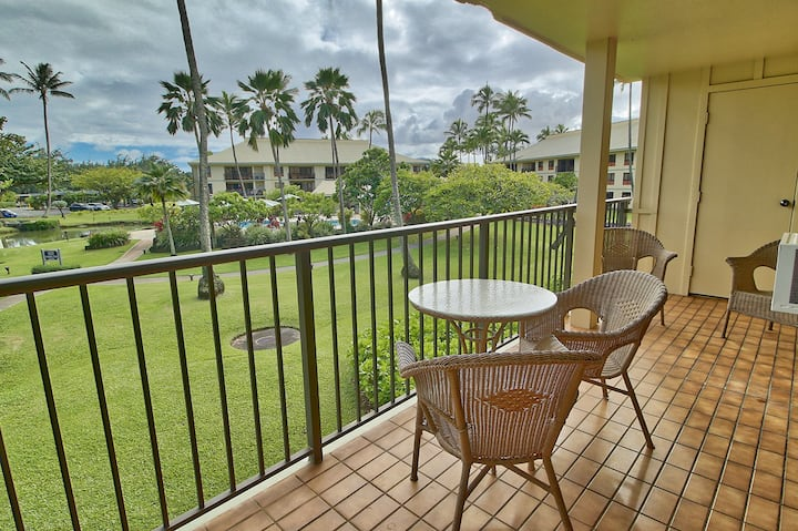Garden and Pool View Condo at Kauai Beach Villas