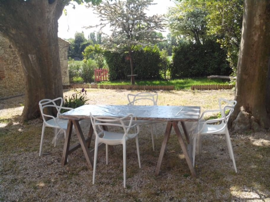 From breakfast to diner under the plane trees