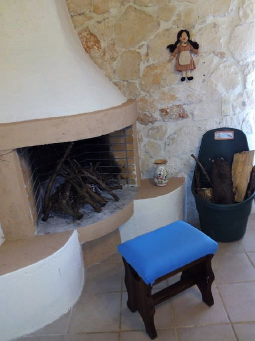 Fire place for winter accommodation