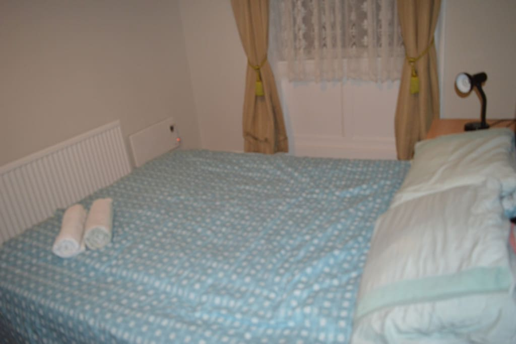 Check out this comfortable double bed. Perfect for you and your other half to stay up all night having sex in. Your partner will be disgusted with you if you don't book this apartment right now