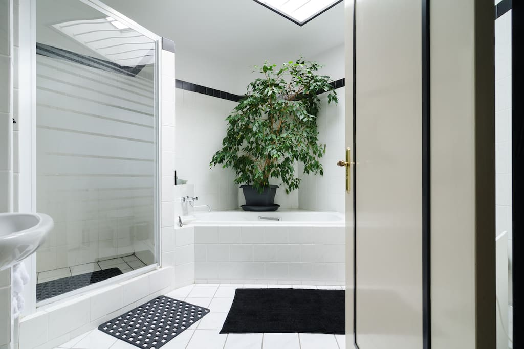 Bathroom include bath and separate shower