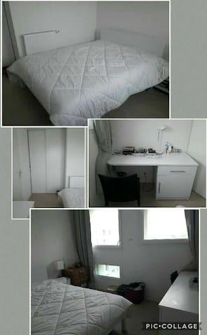 Chambre privée cosy en sous location ou à la nuit - Pessac - Apartamento