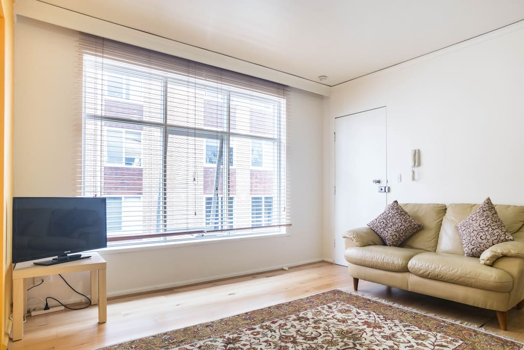 NORTH FACING apartment allows for plenty of natural light