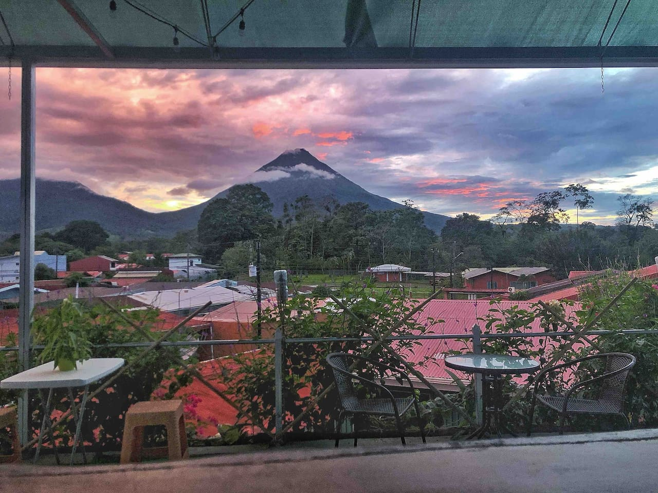 Amazing sunsets & breathtaking views to the Arenal Volcano from our panorama Terrace at your third floor - rooftop (Exclusive access only for our guests).