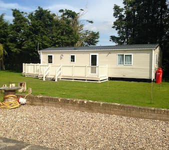 Static Caravan on private garden