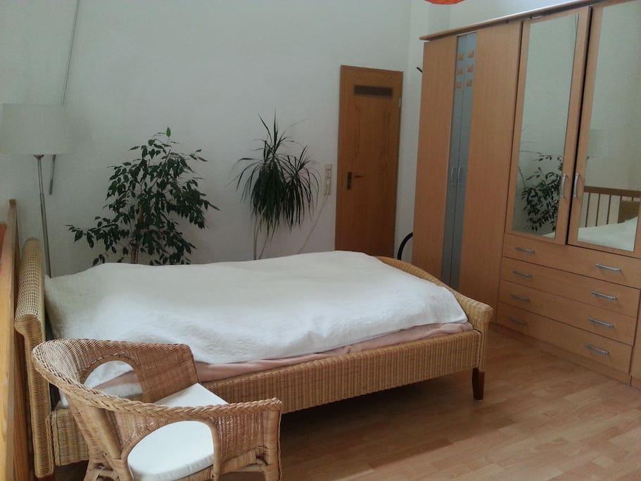 2. Etage: Offener Schlafbereich