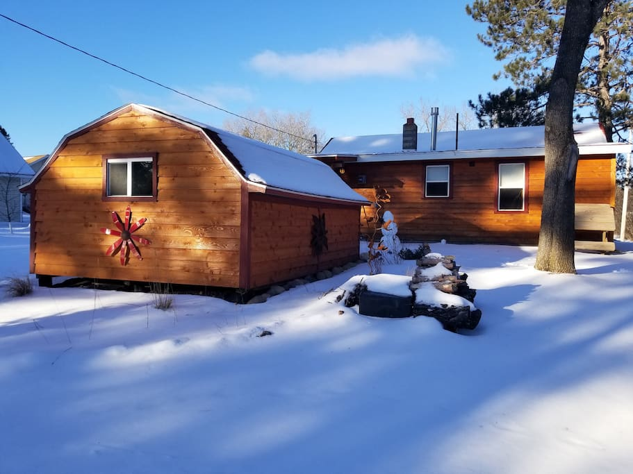 Shed for storage...bikes, skis, etc. waxing bench included!