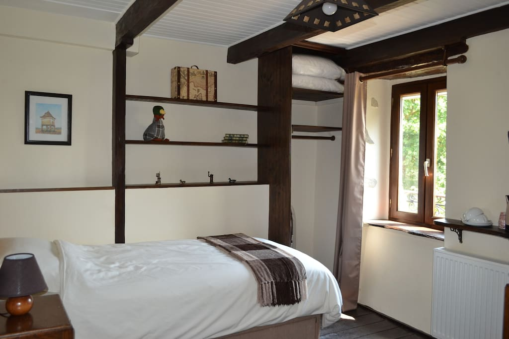 East room - a twin room full of character facing onto fields and open countryside