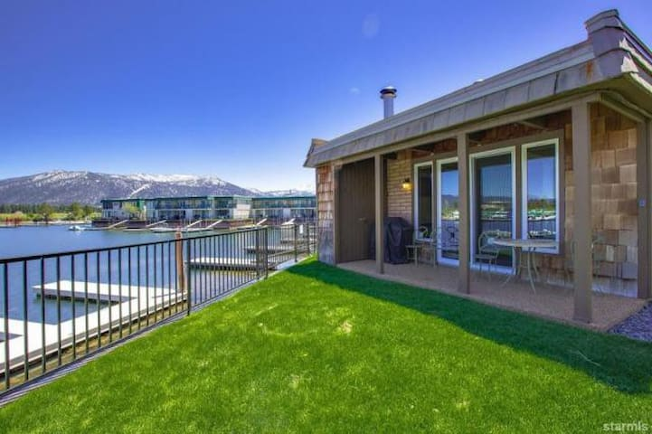 Waterfront Tahoe Keys Condo with Mountain Views and Boat Dock