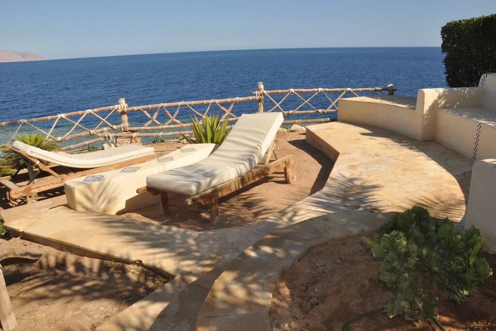 the sun beds