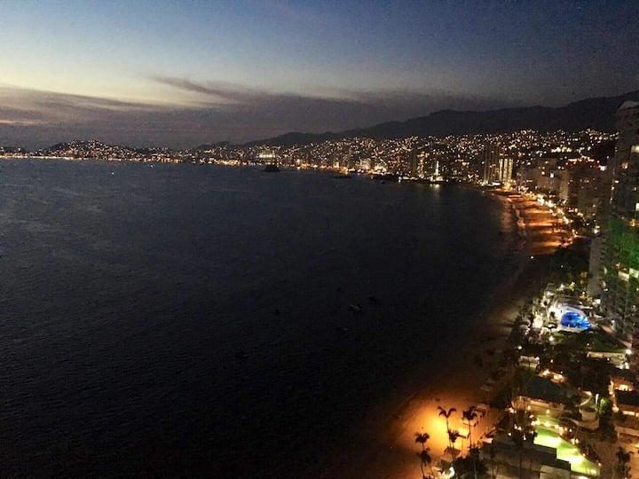Espectacular Depa. con vista a la Bahia, wifi!!