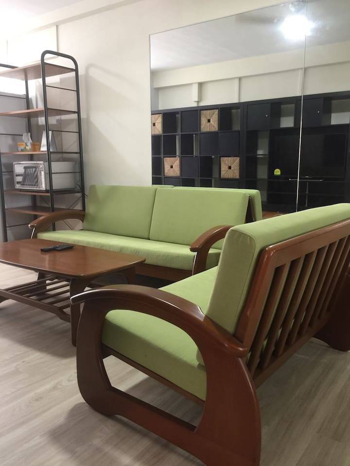 Teak wood 3-seater and 2-seater