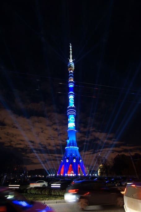 Ostankino  TV- tower 10 minutes om foot