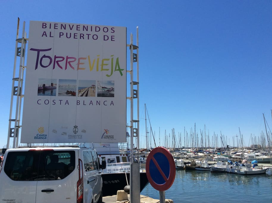 Parte del puerto de Torrevieja