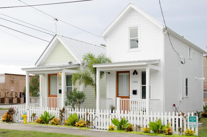 TWO Tiny House Sisters in Historic Ybor City
