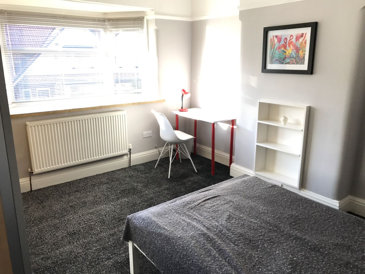 Light & airy bedroomp