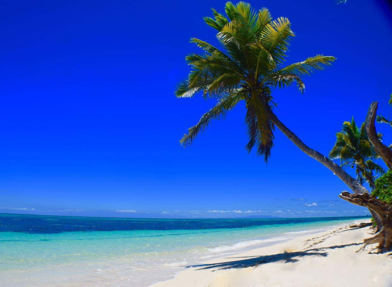 our postcard white sand beach!