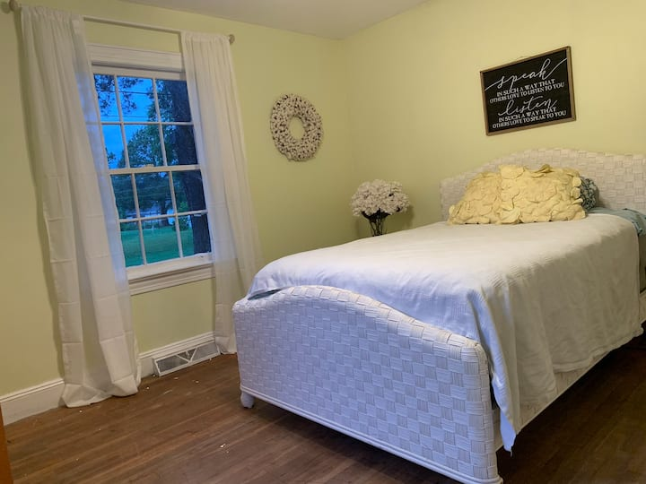 Private bedroom in a comfortable cottage.