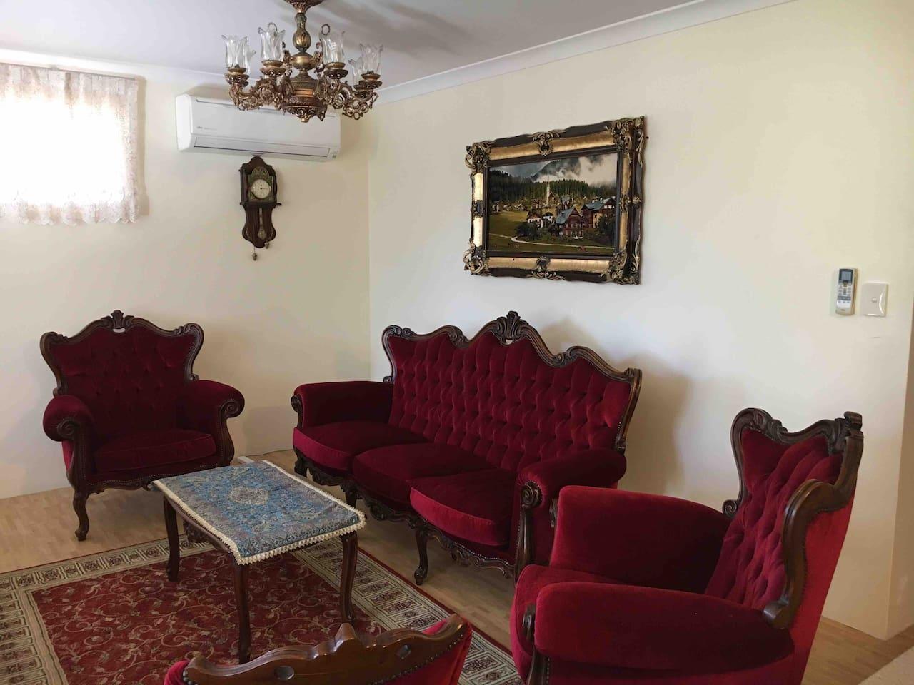 Living room with luxury Italian furniture