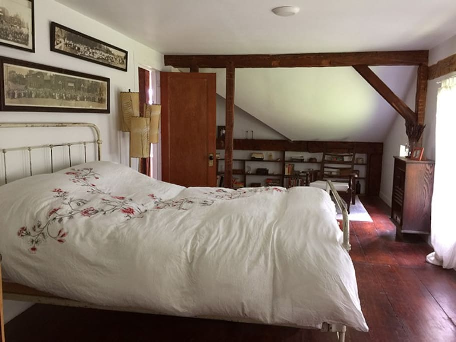"""The """"pine"""" room. And our organic 100% natural wool mattress."""