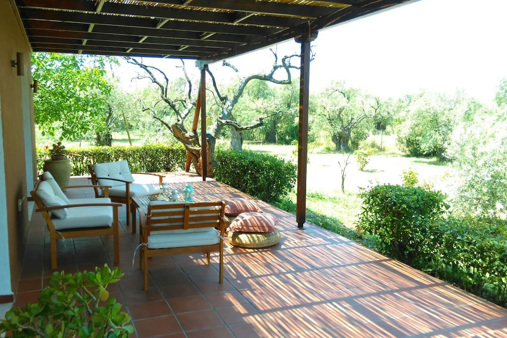 Airy terrace which is perfect if you wish to enjoy a summer breeze along with a cold drink.