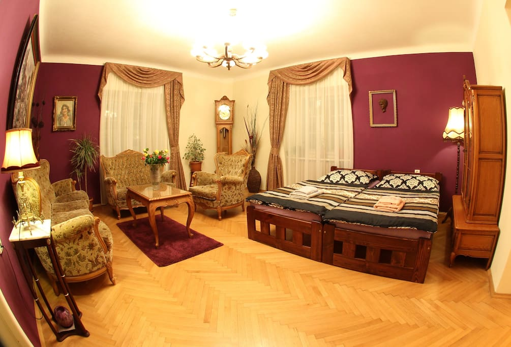 Two beds as an option for 3rd or 4th person upon request or for the 2nd person for 20€ fee