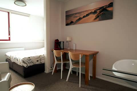 Fijne kamer voor 2 personen op het eiland Texel
