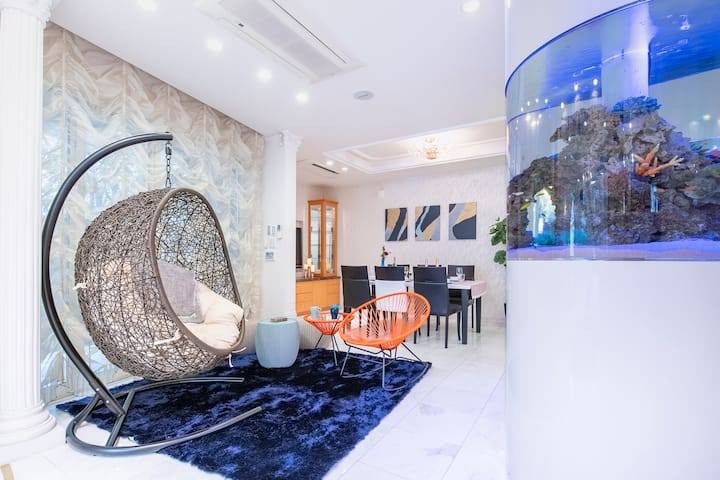 Tokyo Luxury Aquarium house