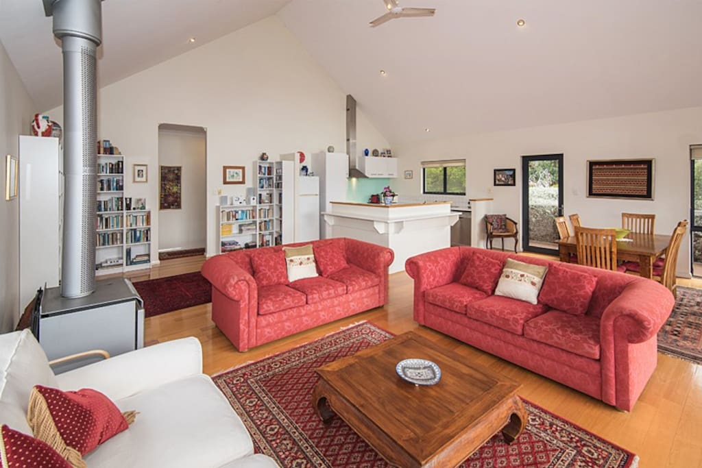 Relax in the large open plan living area.