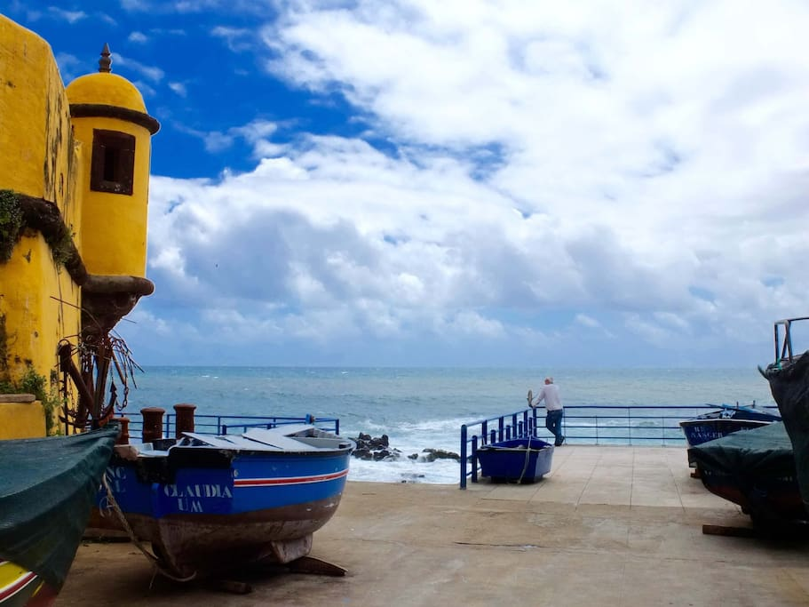 São Tiago Beach nearby Largo do Socorro - is 2 minutes by car or 10 minutes walk from the house